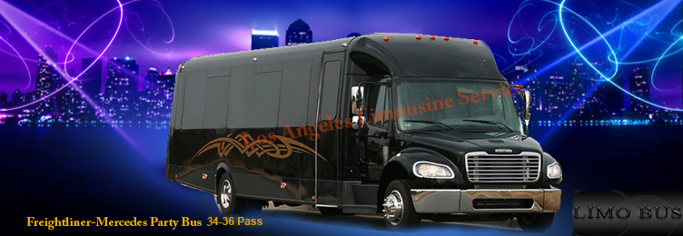 Los Angeles mercedes freightliner party bus